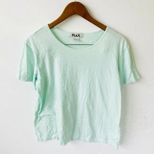 FLAX Cotton Mint Pullover Tunic Size Large